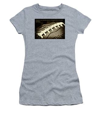 Vince Lombardi Perfection Quote Women's T-Shirt