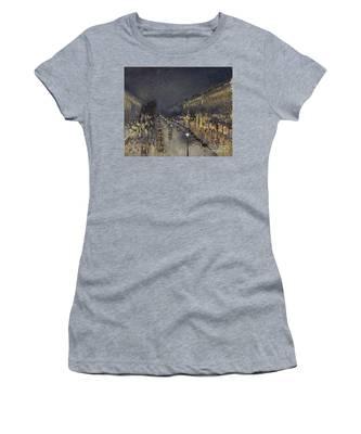The Boulevard Montmartre At Night Women's T-Shirt