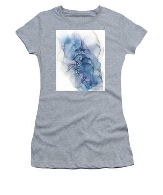 Blue Whispy 2 Abstract Painting Women's T-Shirt