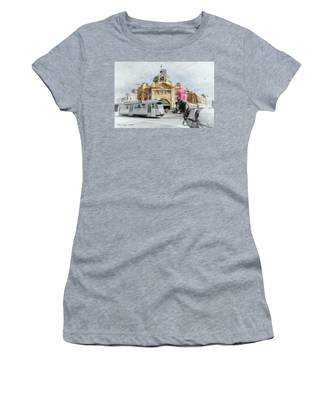 Flinders Street Station, Melbourne Women's T-Shirt