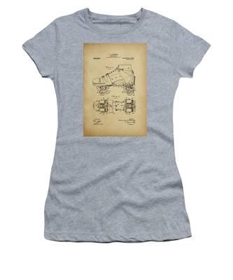 J. L. Plimpton, Roller Skate, Patented Dec.8,1908. Women's T-Shirt