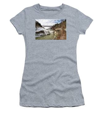 Winter At Letchworth State Park Women's T-Shirt