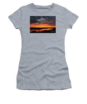 Sunset On Mainstee Lake Women's T-Shirt