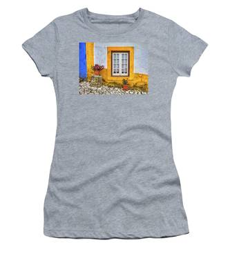 Yellow Window Of Obidos Women's T-Shirt