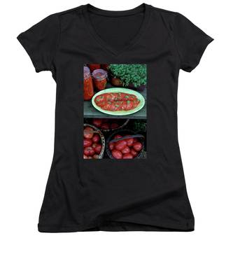A Wine & Food Cover Of Tomatoes Women's V-Neck