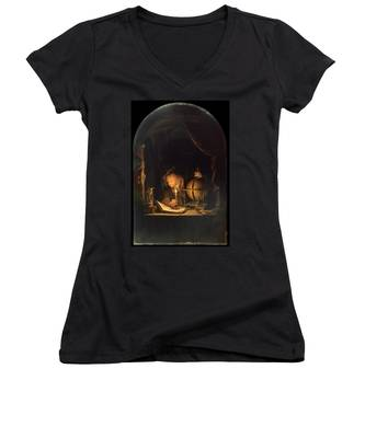 Astronomer By Candlelight Women's V-Neck