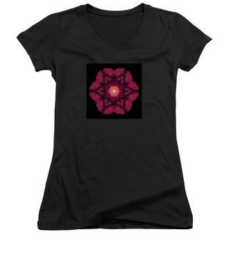 Beach Rose I Flower Mandala Women's V-Neck