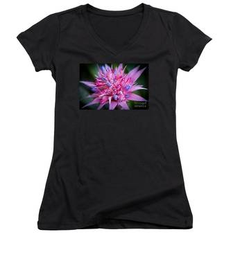 Blooming Bromeliad Women's V-Neck
