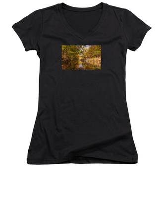 Fall At Valley Creek  Women's V-Neck