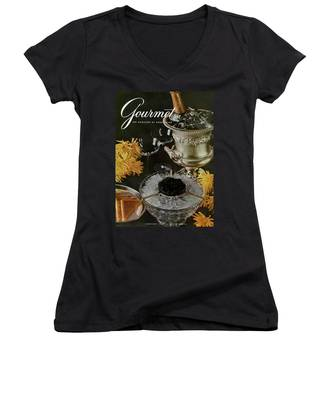 Gourmet Cover Featuring A Wine Cooler Women's V-Neck