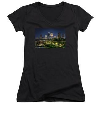Houston On The Bayou Women's V-Neck