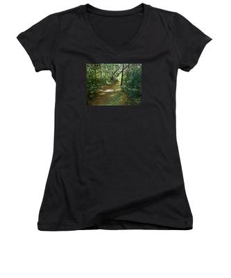 In And Out Of The Shadows Women's V-Neck