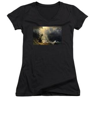 Puget Sound On The Pacific Coast Women's V-Neck