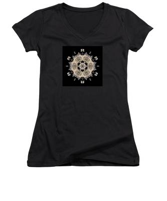 Queen Anne's Lace Flower Mandala Women's V-Neck