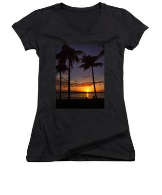Sanibel Island Sunset Women's V-Neck