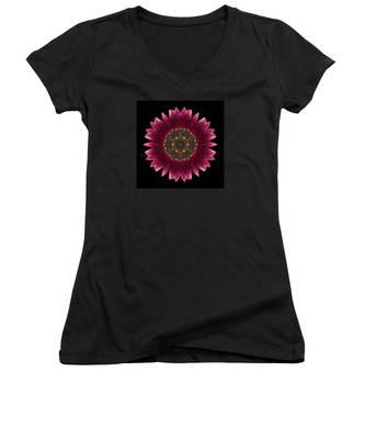Sunflower Moulin Rouge I Flower Mandala Women's V-Neck