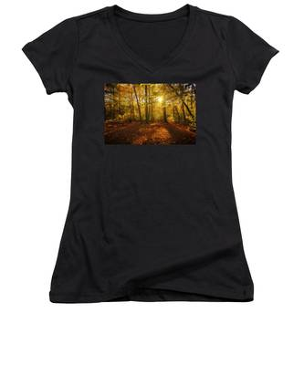 Sunset Forest Women's V-Neck