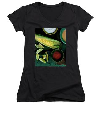 Sweetcorn And Limes Women's V-Neck