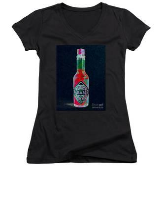 Tabasco Sauce 20130402 Women's V-Neck