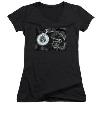 Time And Money Women's V-Neck