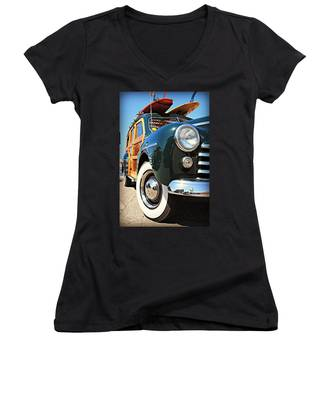 Woodie On The Wharf Women's V-Neck