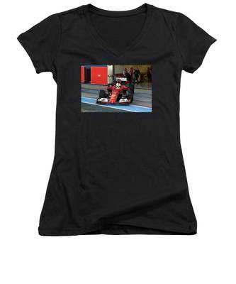 Automobile Racing Women's V-Neck T-Shirts