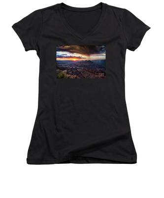Grand Canyon Monsoon Sunset Women's V-Neck