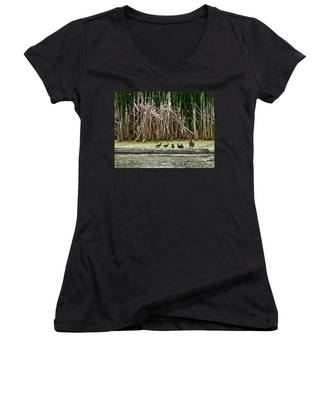 Ducks All In A Row Women's V-Neck