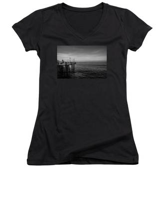 Early Morning Redondo By Mike-hope Women's V-Neck