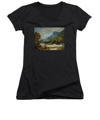 Emu Plains, Grampians Women's V-Neck
