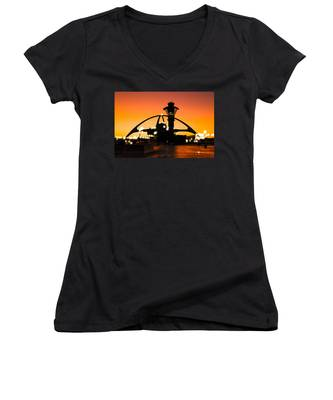 Encounters Lax With Light Women's V-Neck