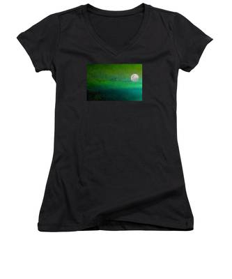 Geese In Flight  Women's V-Neck