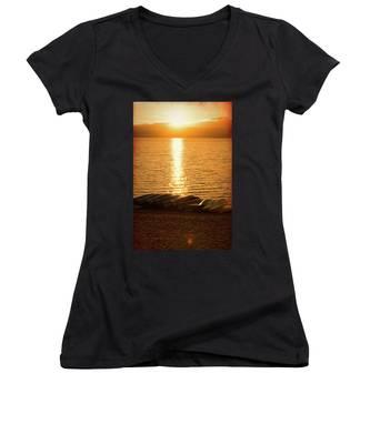 Sunset On Quinault Women's V-Neck