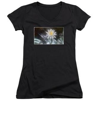 Water Lily In Sunlight Women's V-Neck