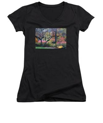 Watercolor Forest Women's V-Neck