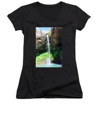 Waterfall 2 Women's V-Neck