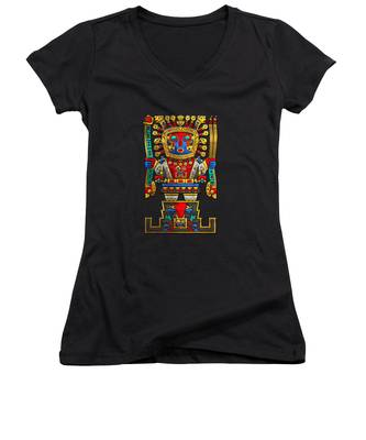 Mesoamerica Women's V-Neck T-Shirts