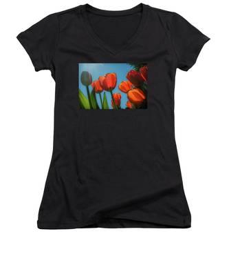 Towering Tulips Women's V-Neck
