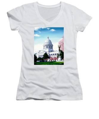 Arkansas Capitol Blossoms Women's V-Neck
