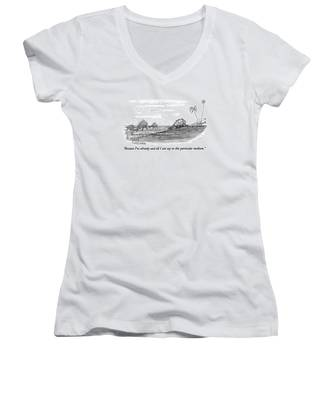 Because I've Already Said All I Can Say In This Women's V-Neck
