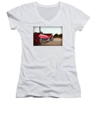 Cadillac In Wine Country  Women's V-Neck