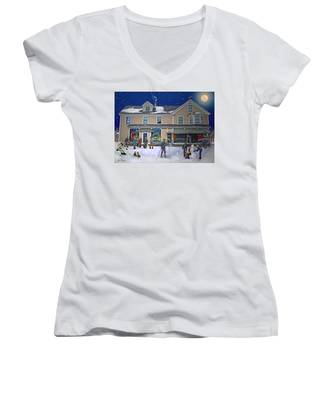 Faddens General Store In North Woodstock Nh Women's V-Neck