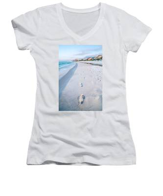 Florida Beach Scene Women's V-Neck