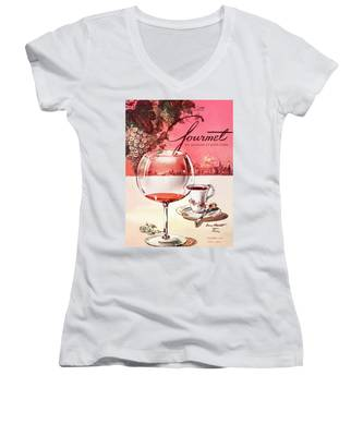 Gourmet Cover Illustration Of A Baccarat Balloon Women's V-Neck