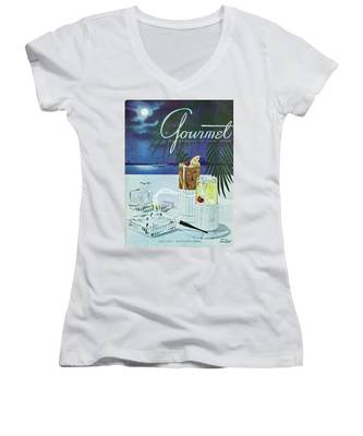 Gourmet Cover Of Cocktails Women's V-Neck