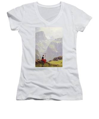 High In The Mountains Women's V-Neck