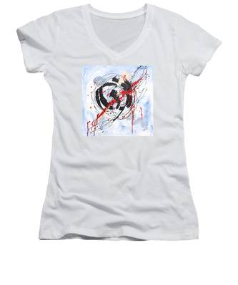 Musical Abstract 002 Women's V-Neck