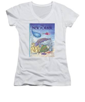 New Yorker March 23rd, 1992 Women's V-Neck