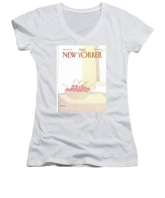 New Yorker March 8th, 1982 Women's V-Neck