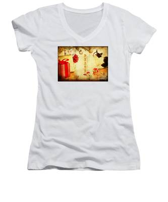 Peace And Joy To All Women's V-Neck
